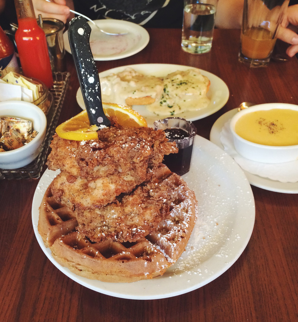 Chicken and waffles at Screen Door