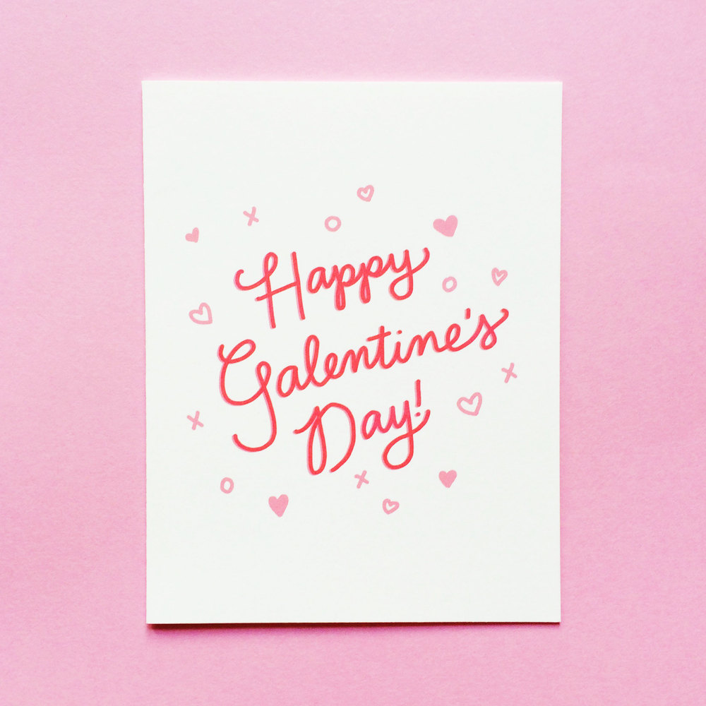 Happy Galentine's Day card by Design & Happiness