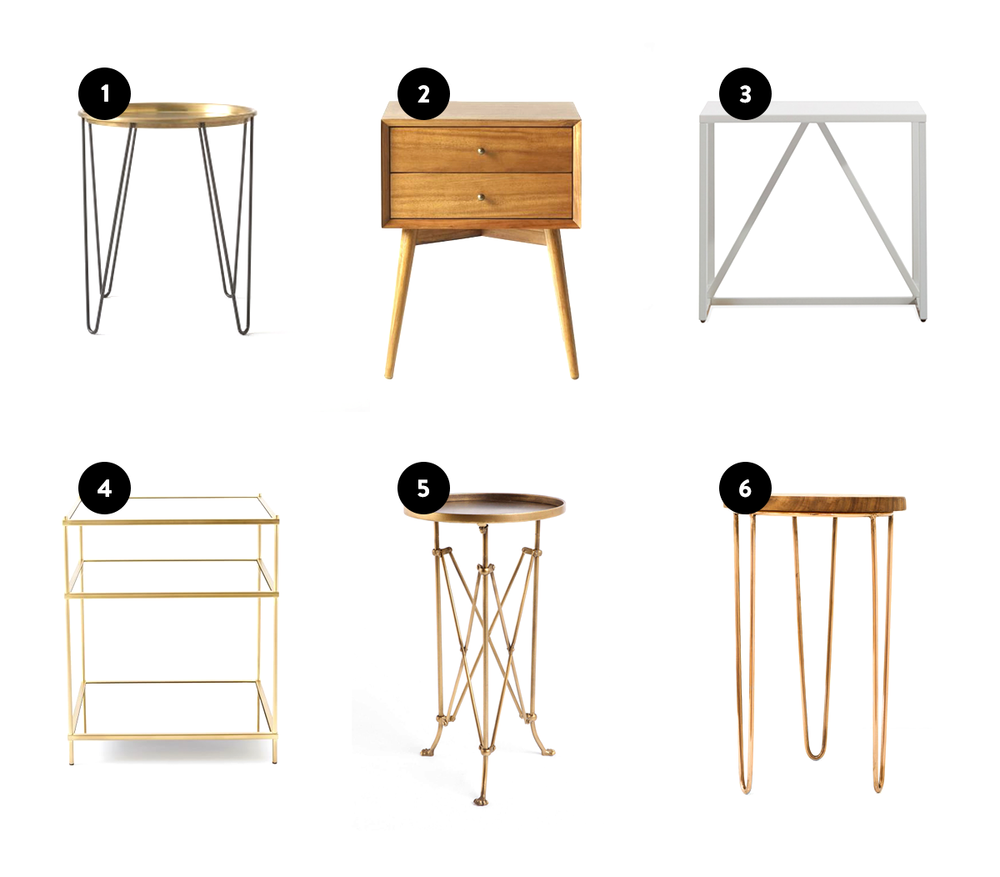 Strut Side Table By Blu Dot // 4. Terrace Nightstand By West Elm // 5. Metal  Accordion Side Table From Urban Outfitters ...