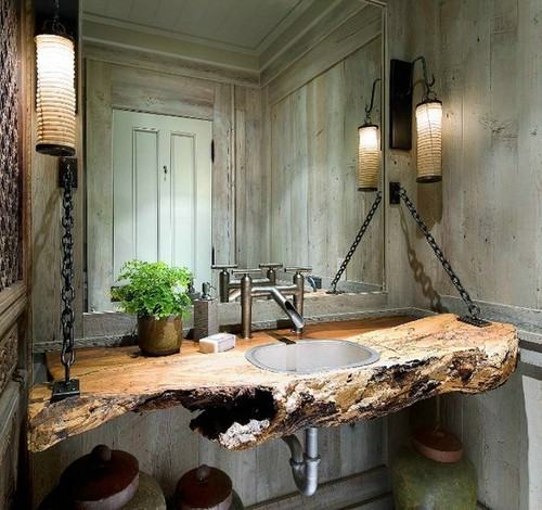 Wooden Bathroom Feature Raw / Herman Furniture Singapore