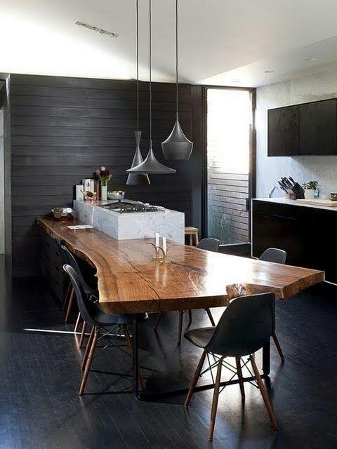 Suar Wood Kitchen Feature / Herman Furniture Singapore