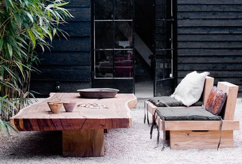 Wood Slab Outdoor / Herman Furniture Singapore