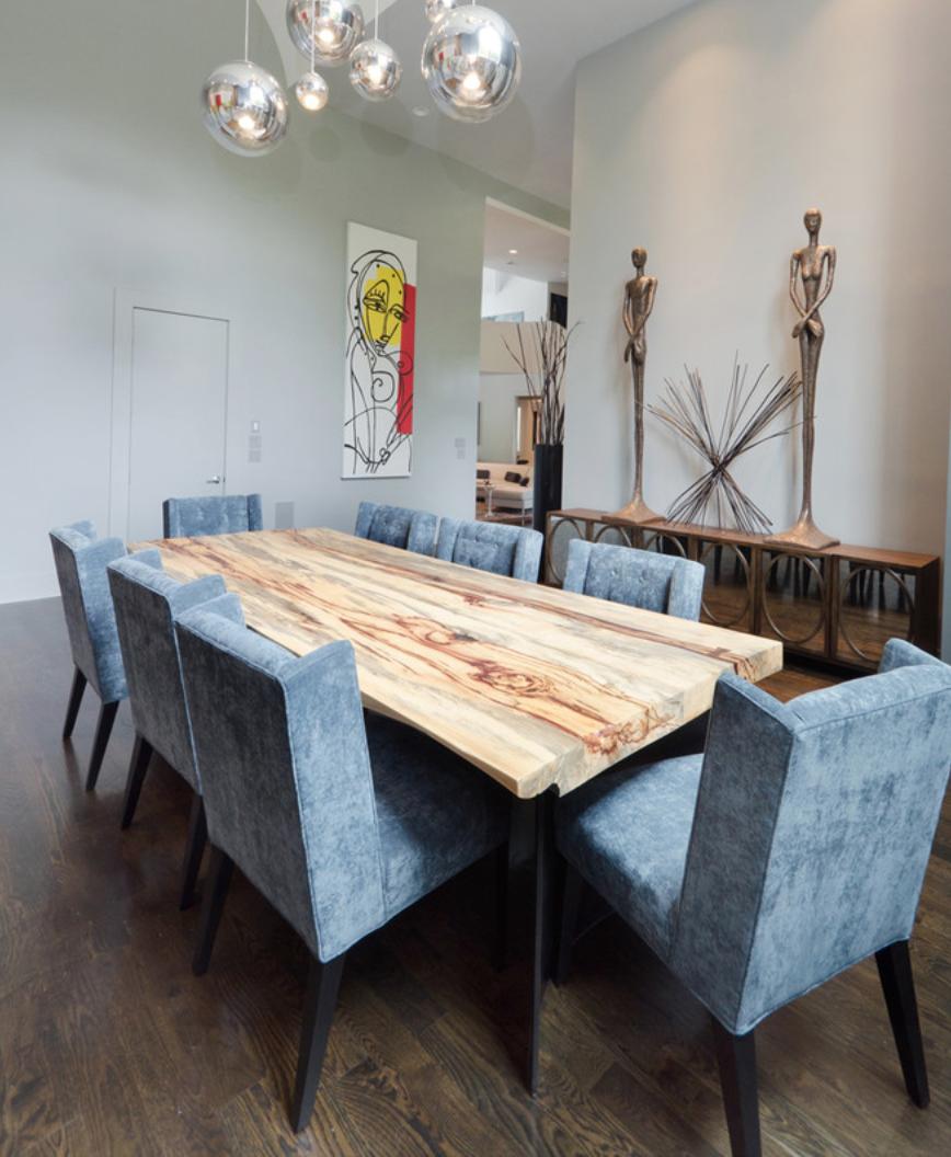 White Wood Slab Table Top / Herman Furniture Singapore