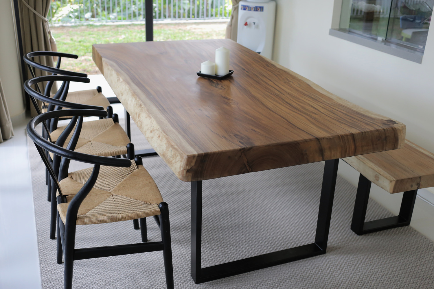 Suar wood table x herman furniture singapore