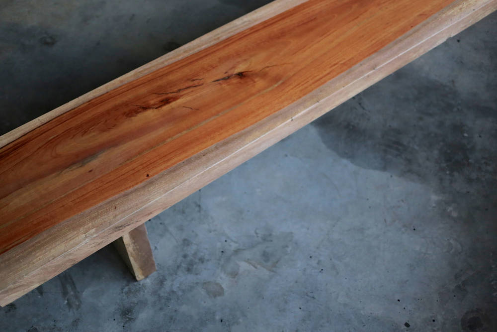 rengas solid wood bench