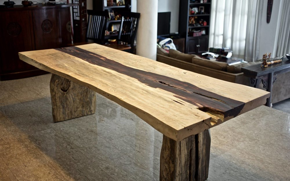 Tamarind Wood Dining Table // Herman Furniture Singapore.jpg