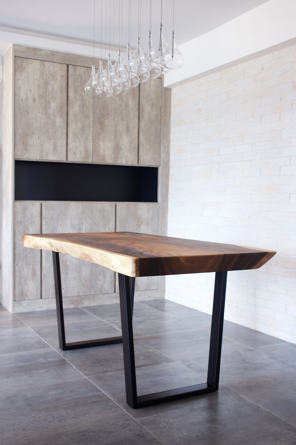Suar Wood with Metal Legs Dining Table // Herman Furniture Singapore.jpg