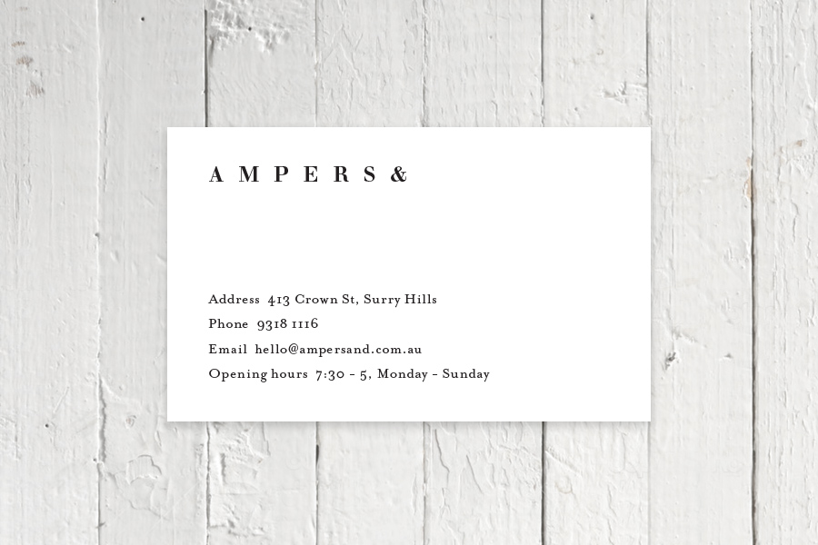 Ampers& Business Card