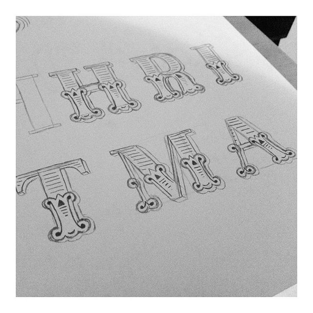 It's always nice to start a Friday with some lovely compliments on previous work! Here's a little bit of sketch work that went into creating my Méliès typeface pre-vector ✏️ #behindthescenes