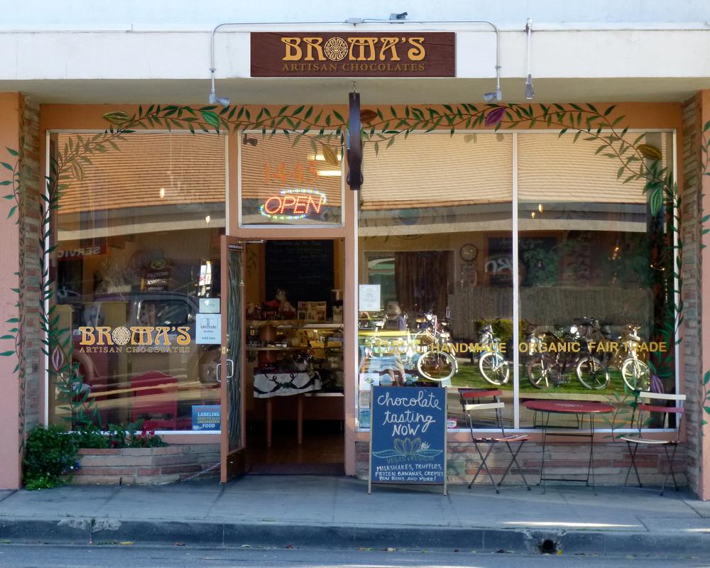 Broma's Artisan Chocolates Storefront