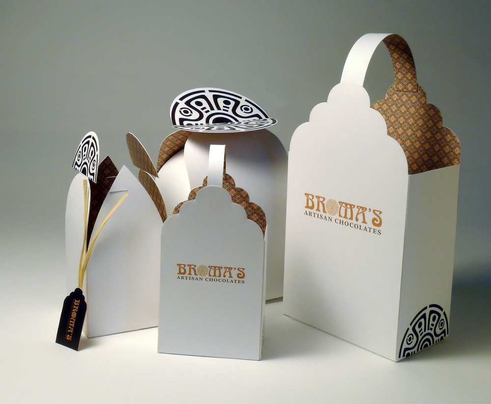 Broma's Artisan Chocolates Packaging
