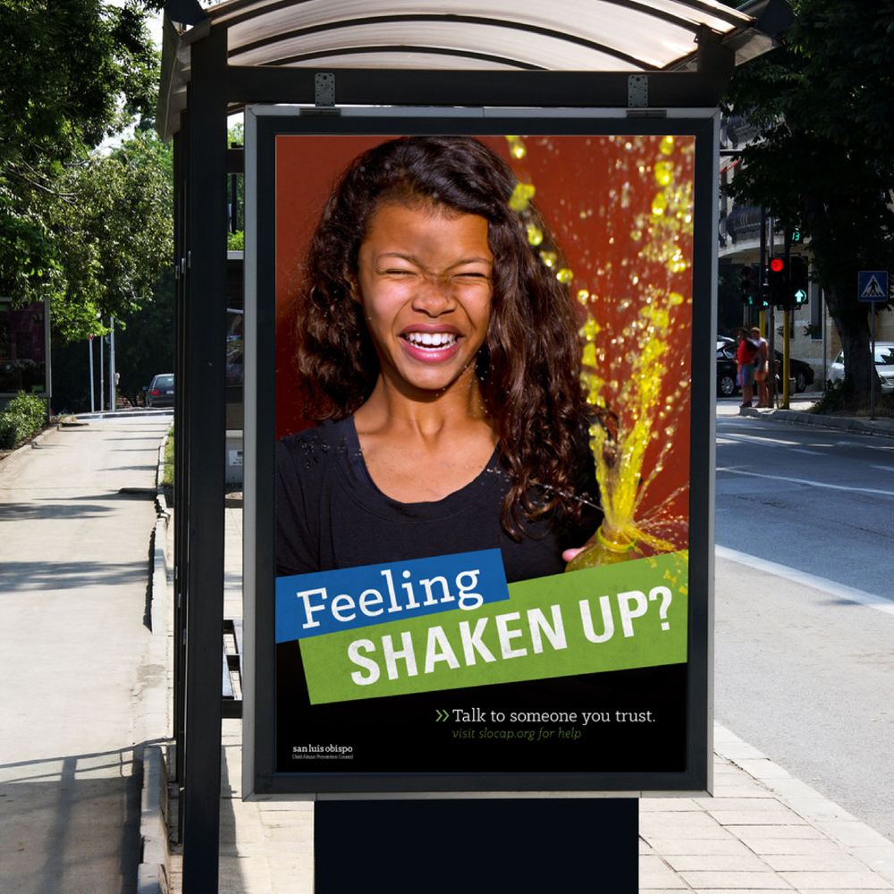 Feeling Shaken Up Bus Stop Ad