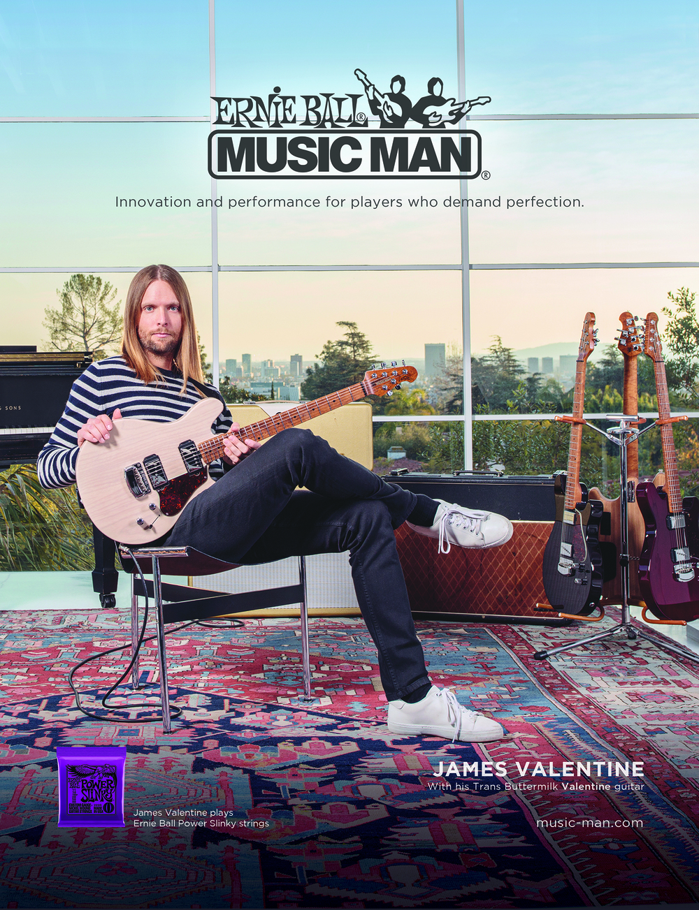 Ernie Ball Music Man -- Print Ads / Website