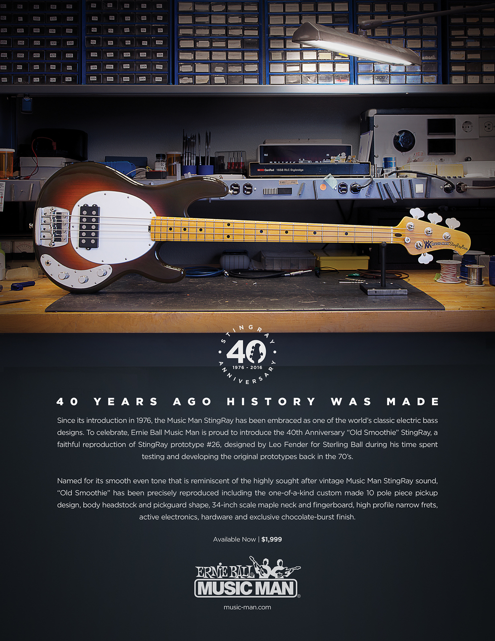 40th Anniversary StingRay Print Ad