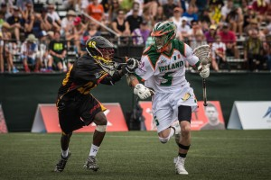 Action from Ireland's opener against Uganda