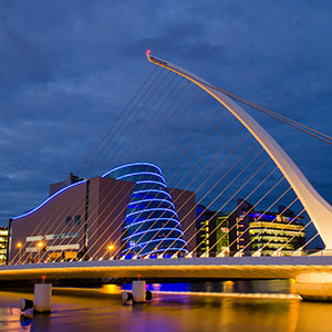 Dublin Liffey River Bridge