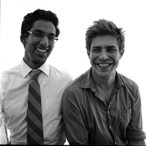 Mo Narang and Chris Lowell