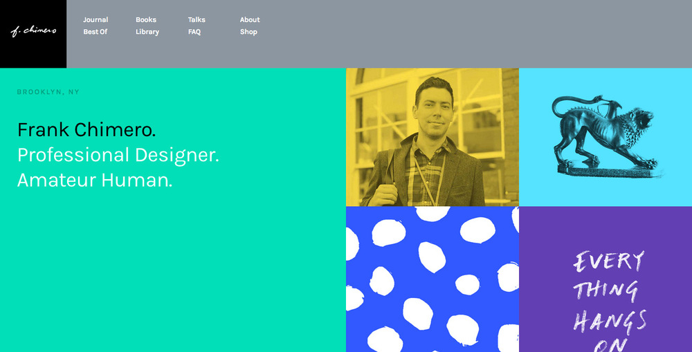 The portfolio website of Frank Chimero