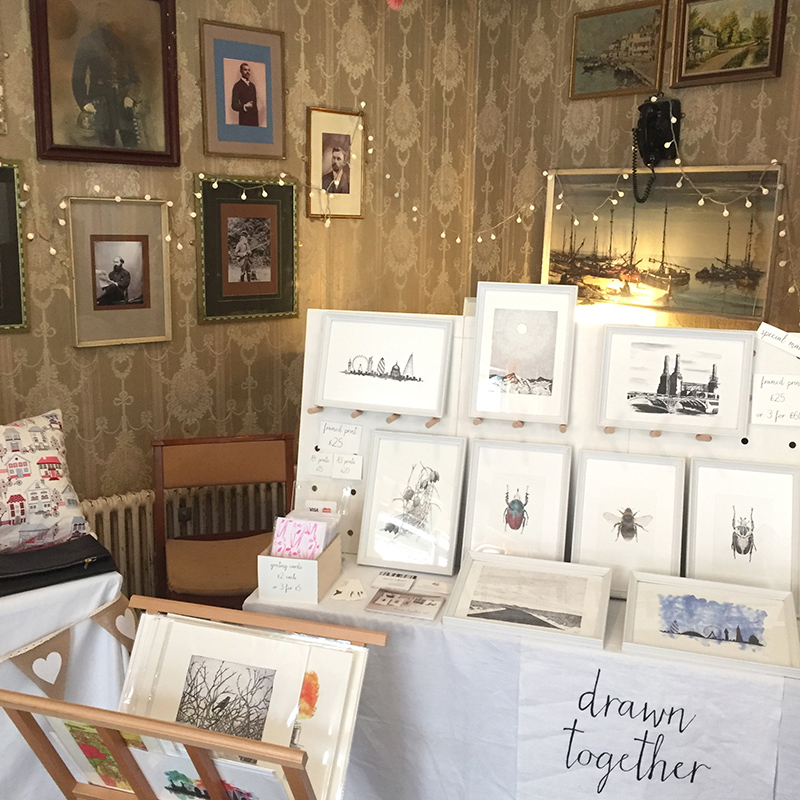 Drawn Together Art Collective  stall at  SoLo Craft Fair  in Catford
