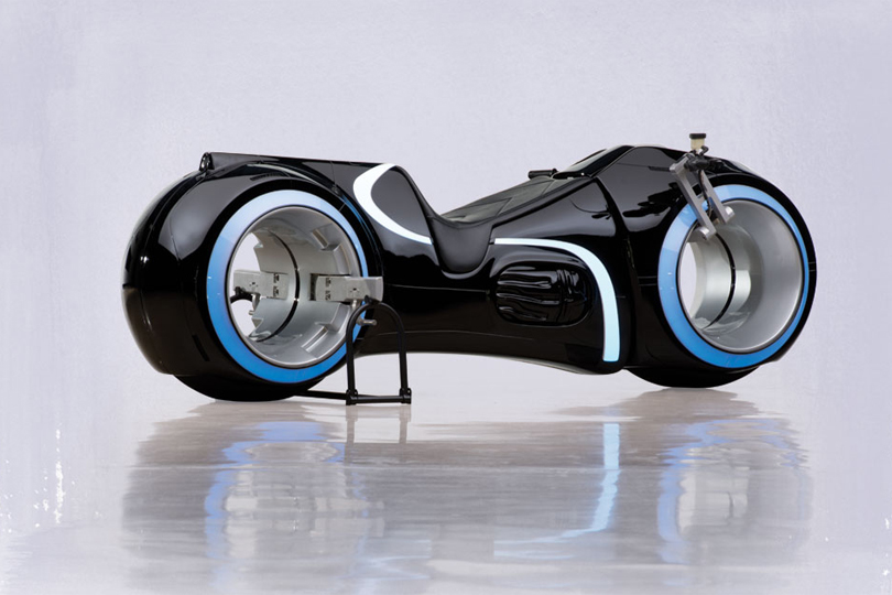 2011 Custom Electric Motorbike: The Tron Lightcycle  / $25,000 - $40,000