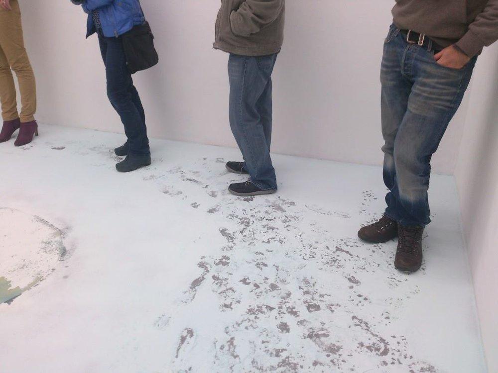 DETAIL: SOAP-POWDER - Soap, flour, pigment, De hemel bevolken, Kunstpodium T, Tilburg 2014