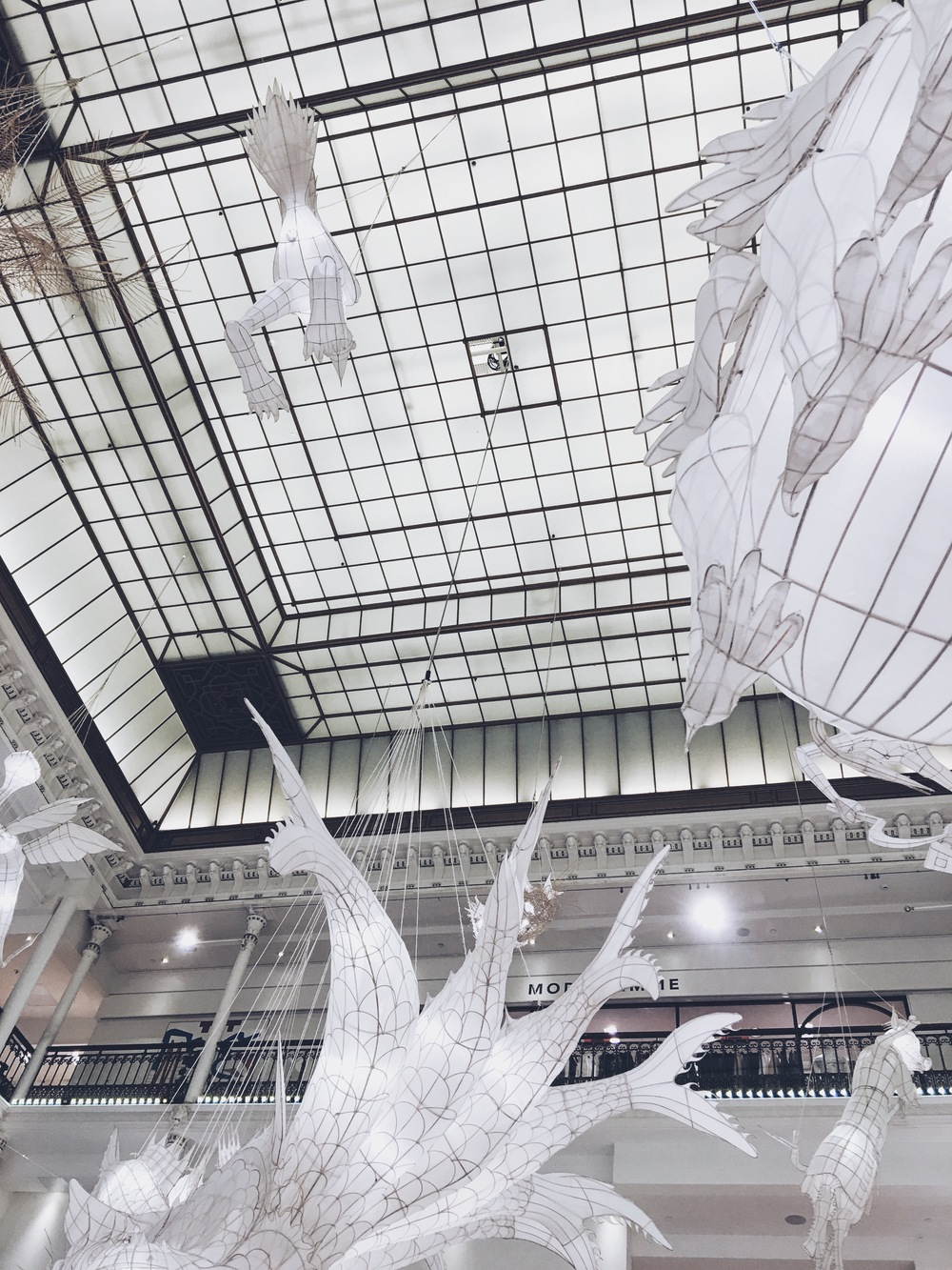 Ai Weiwei 's whimsical paper sculptures at iconic department store Le Bon Marche