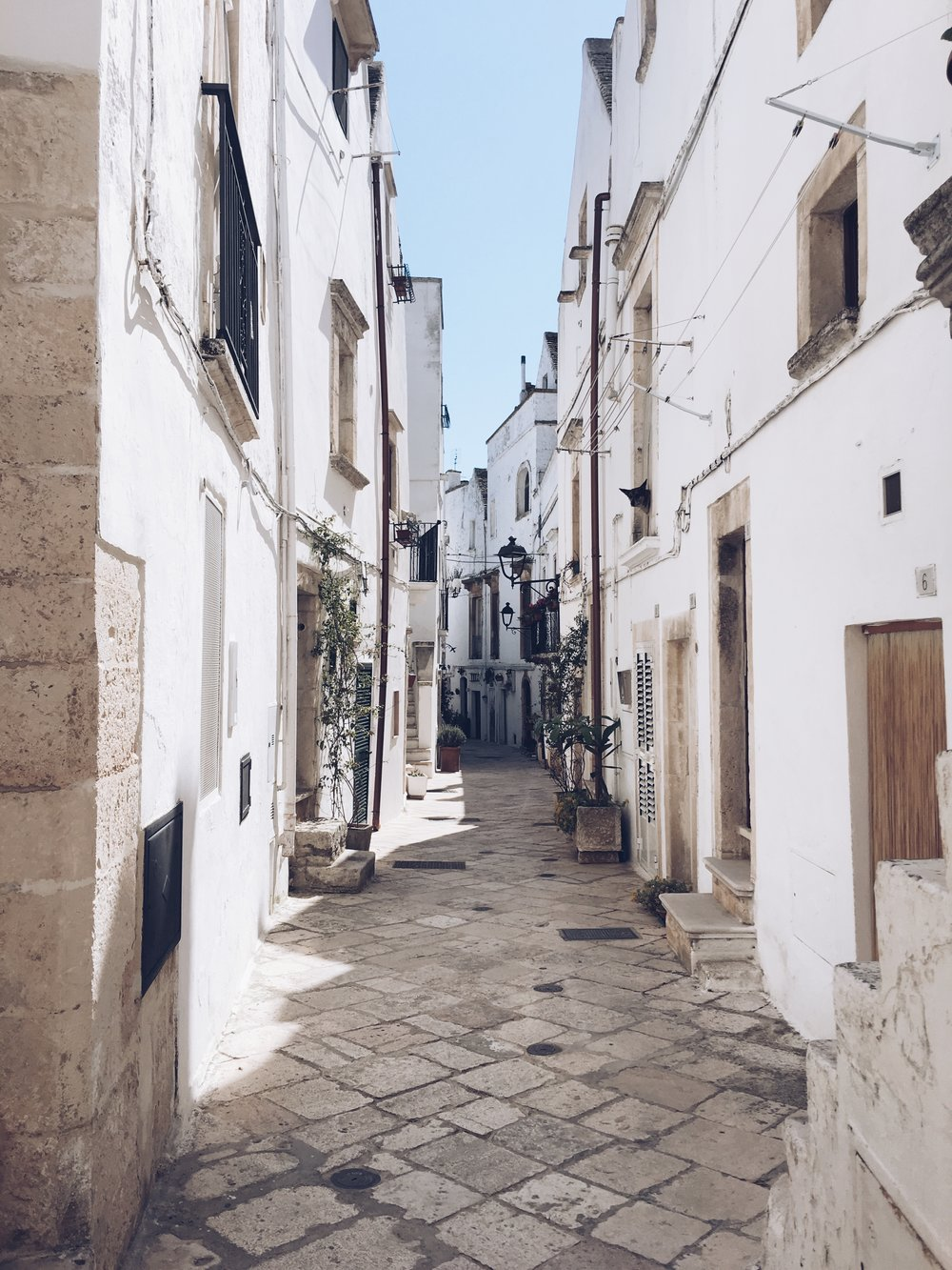 Narrow alleyways of Locorotondo