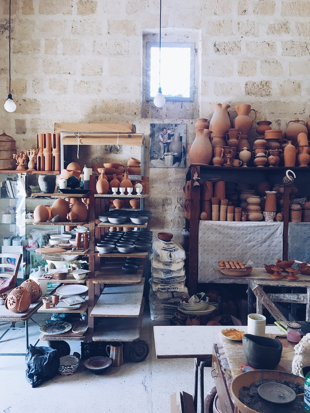 Ceramic studio in Grottaglie