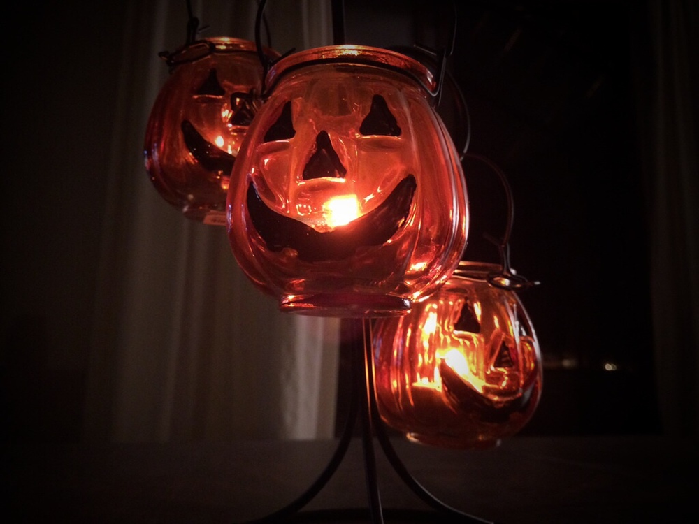 Yankee Candle Pumpkin Lantern with tea lights