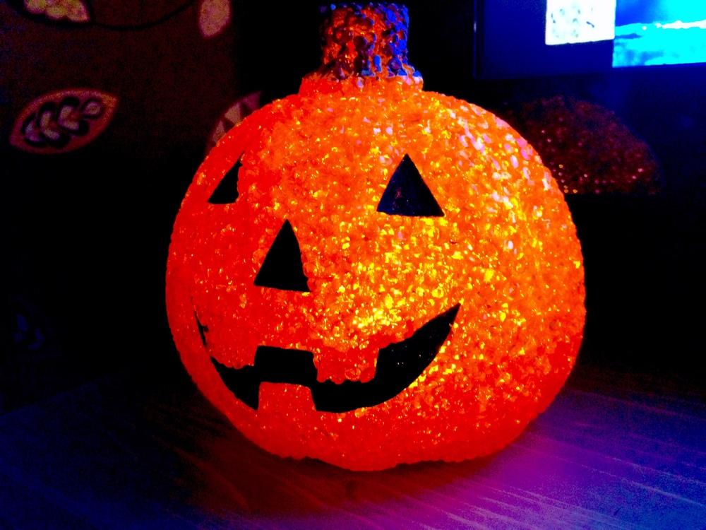 Glittery Pumpkin light from Matalan