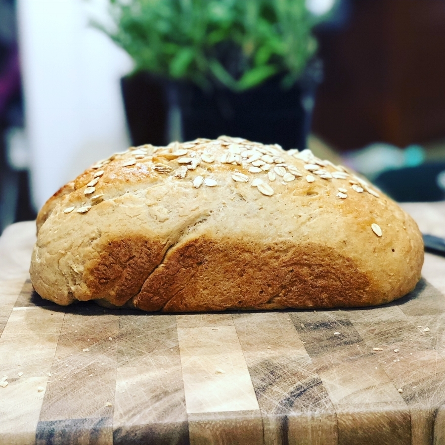 Honey Wheat bread glamour shot.
