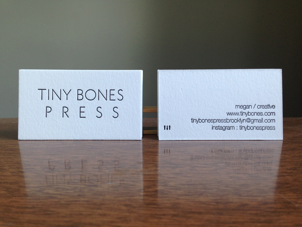 Business cards tiny bones press tbpbc1 colourmoves