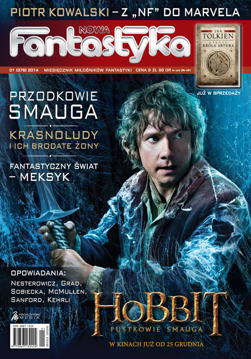 "The Jan. 2014 issue of Nowa Fantastyka, which features my story ""Monday's Monk."""