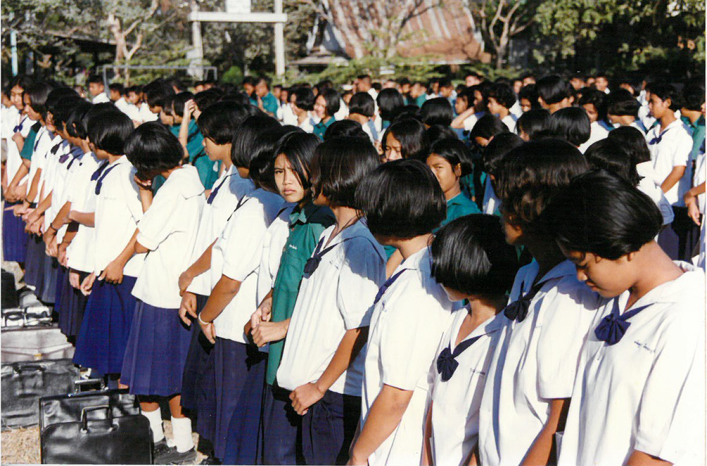 My students at Sa Klee Wittaya School during morning assembly.