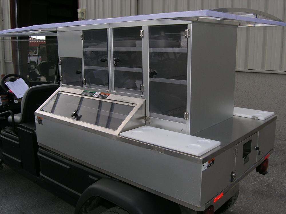 Want a mobile food and beverage station without paying for the cost of fuel?