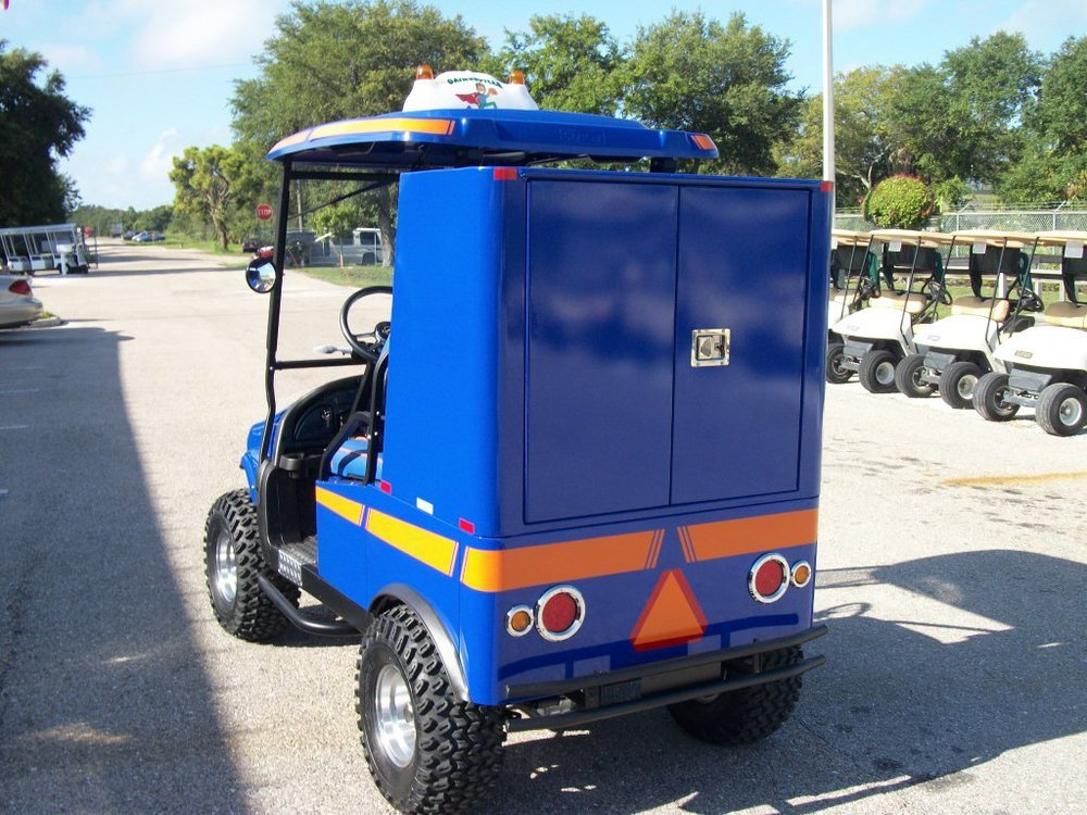 2 passenger utility cart with van box.