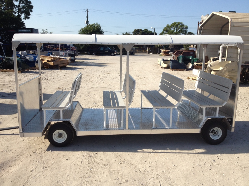 12 - 15 passenger forward facing trailer.
