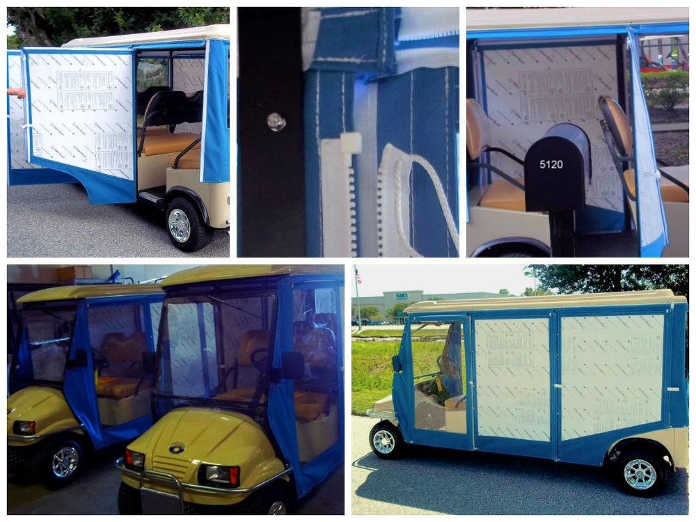 Looking for a simple and sturdy enclosure? Our Polycarbonite enclosures are connected to the cart by hinges, allowing them to swing open and closed like doors. The Velcro+Zipper feature provides everyone with easy access in or out. CLICK IMAGE FOR VIDEO