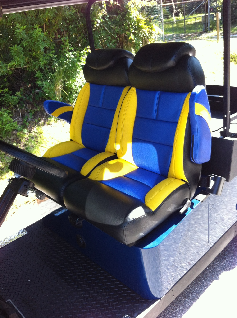 Cruise in style and comfort with adjustable reclining bucket seats!