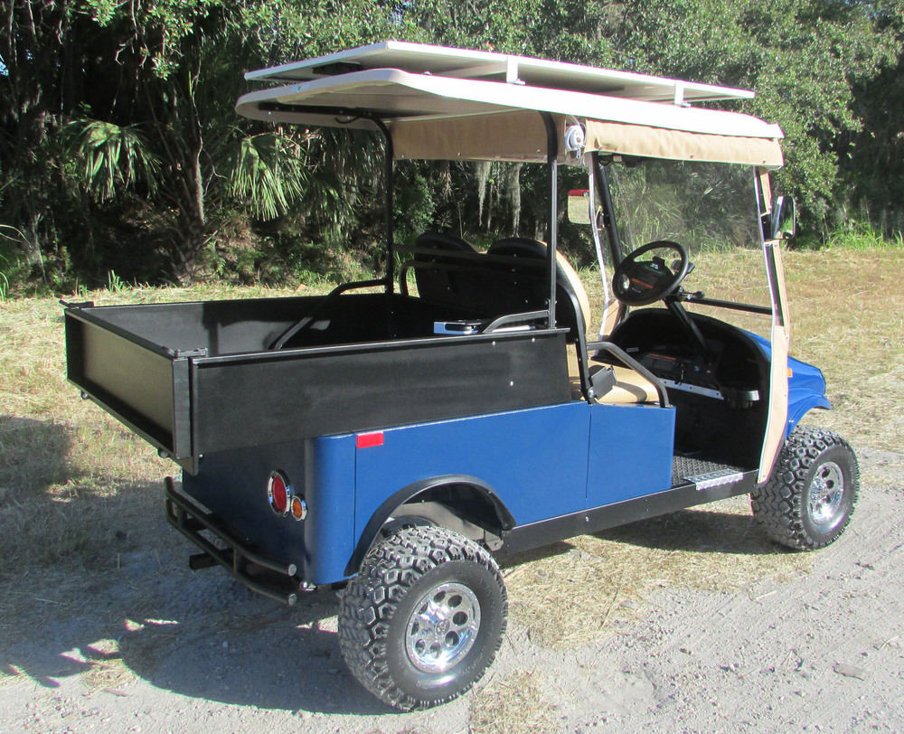 Blue Utility Vehicle with ATV Tires