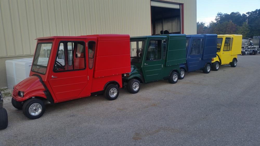 Custom UTV with Cargo Vans