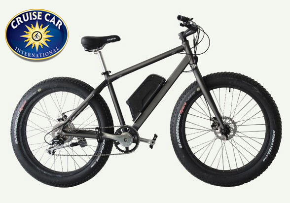 All aluminum bike frame and a 48 volt electric motor with 3 electric gear settings.