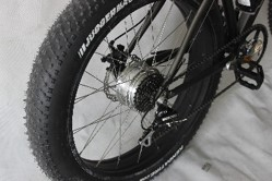 Ride across any terrain easily with thick 4 inch tires.