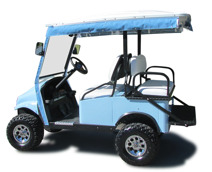 Shown with Upgraded Vehicle & Seat Color, Lift Kit & Rain Enclosure