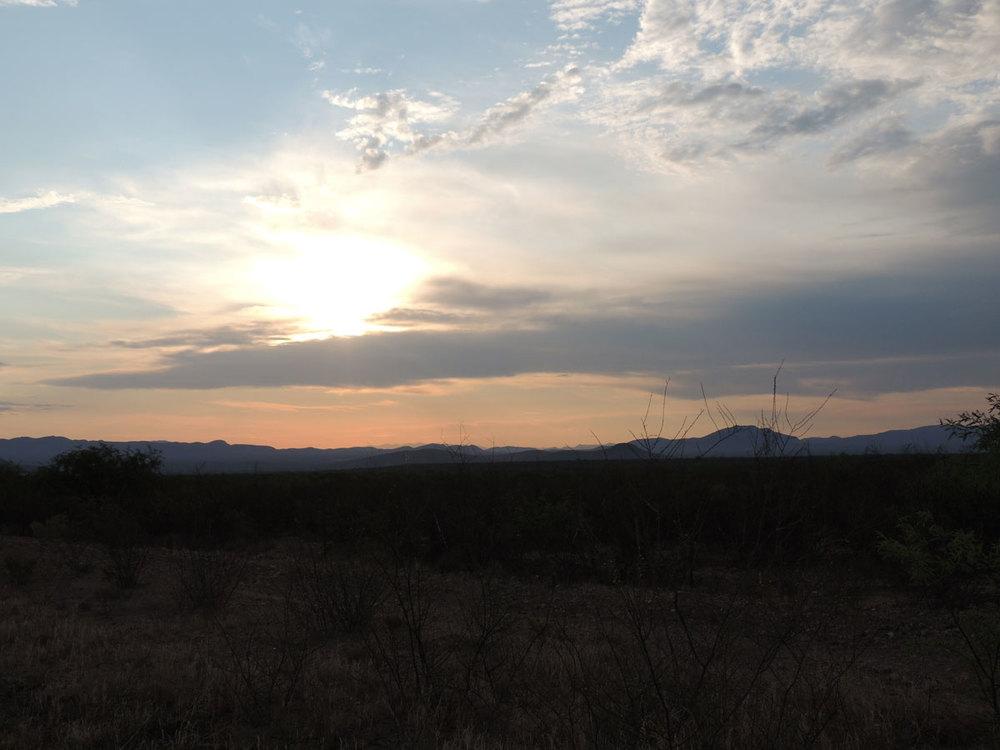 sunrise in southern arizona