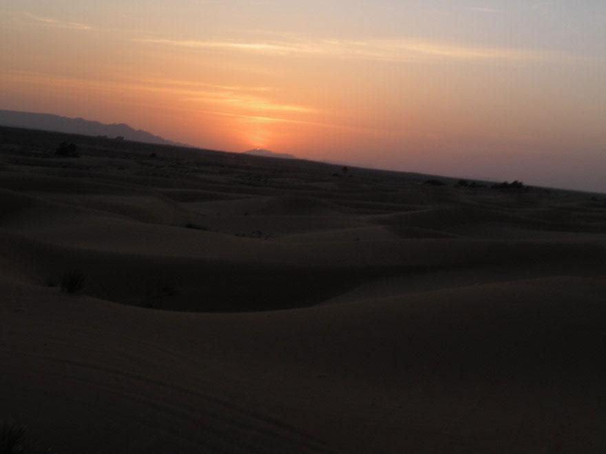 sahara dessert sunset