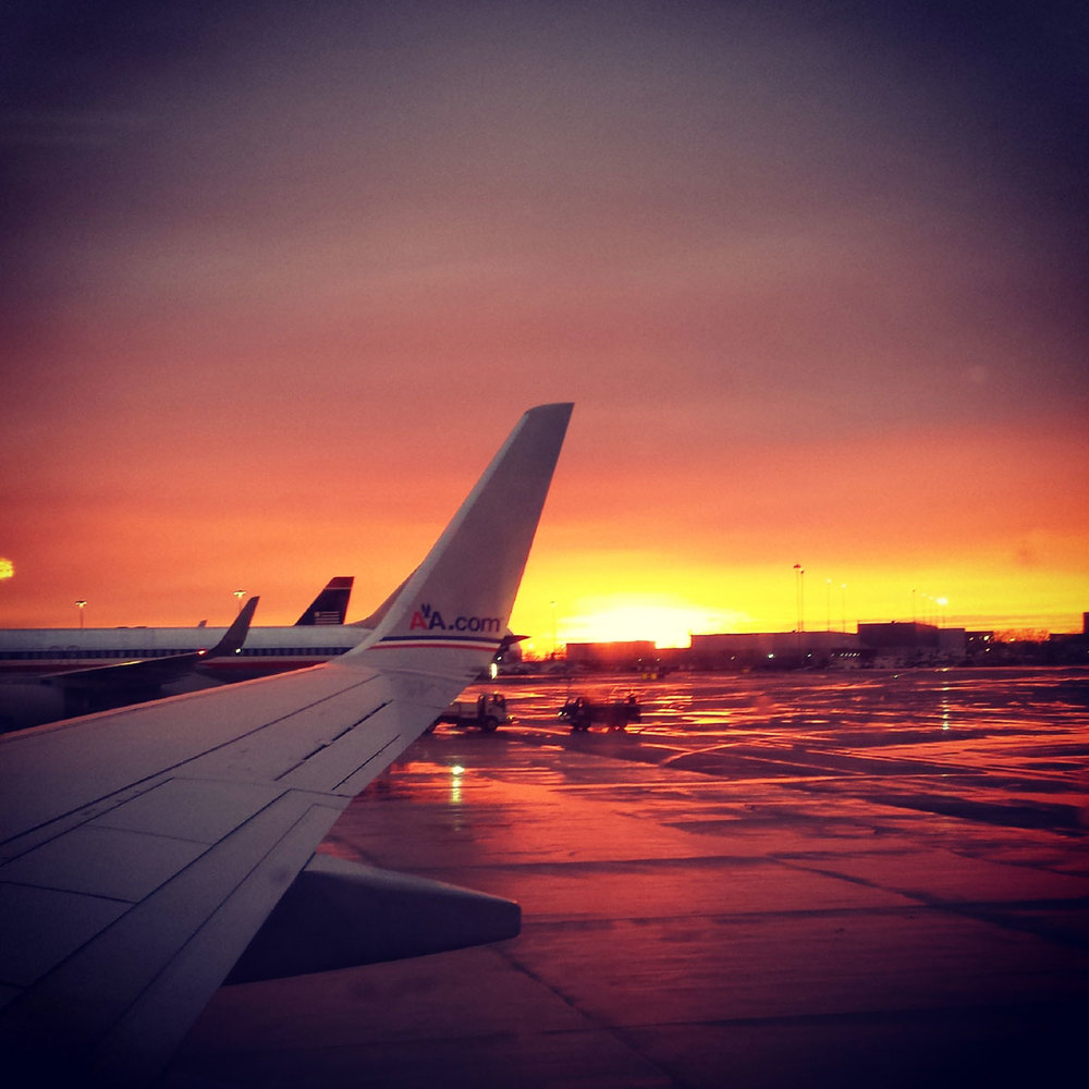 sunset at jfk airport