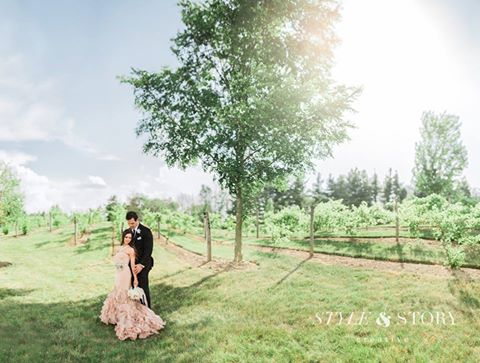 This is just one of the many photos from their wedding, absolutely breathtaking right?! Their photographer, Style & Story Creative is out of Columbus, Ohio and they are ahh-mazing! Check out more of their work here!