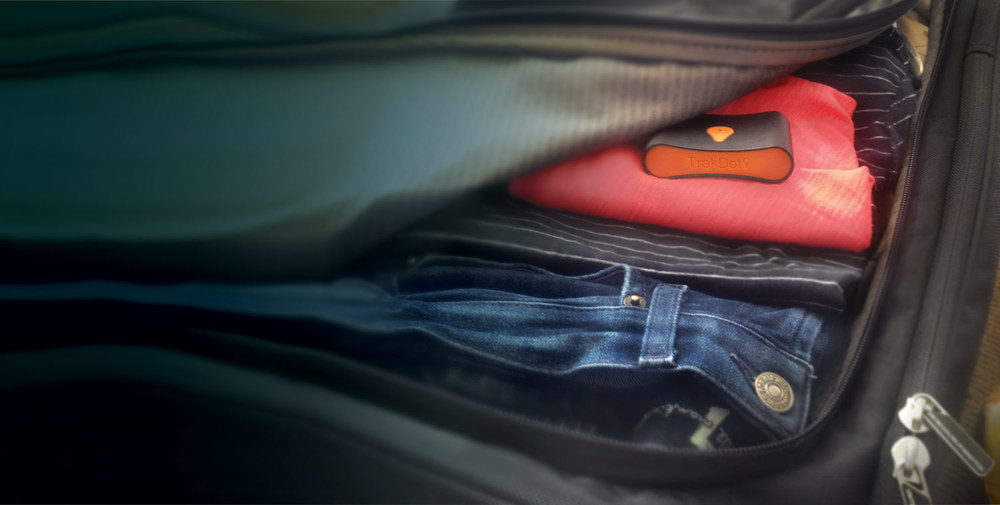 A tracking device in your luggage (photo credit: Trakdot)