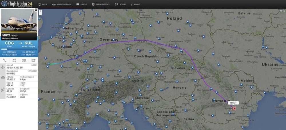 MH21 avoided Ukraine